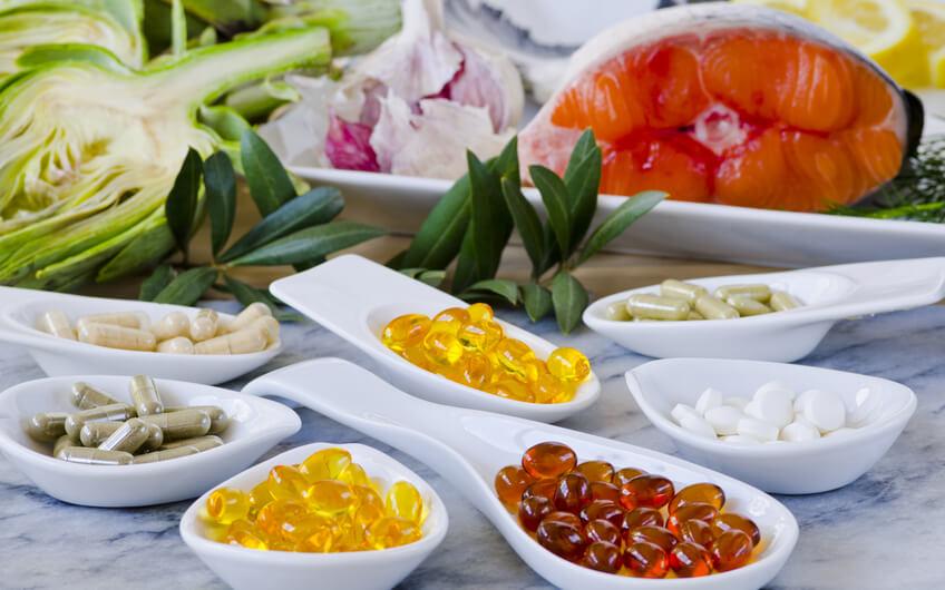 Lebensmittel vs Supplements